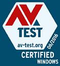 AV-TEST CERTIFIED 06/2016