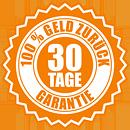 30 Tage - 100% Geld-zurück-Garantie