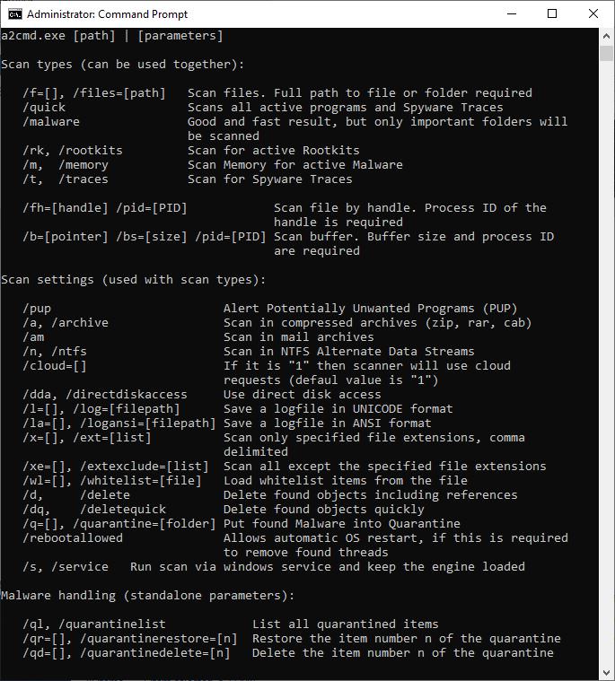 Screenshot CMD Scan
